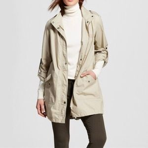 Merona | Olive Green Long Length Utility Jacket